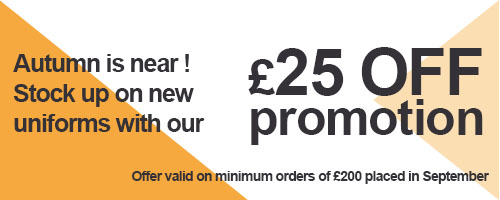 September : 25£ off promotion